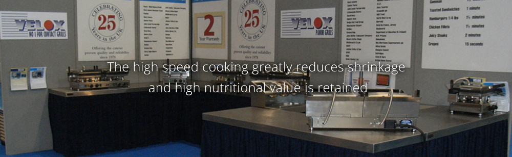 The high speed cooking greatly reduces shrinkage and high nutritional value is retained.