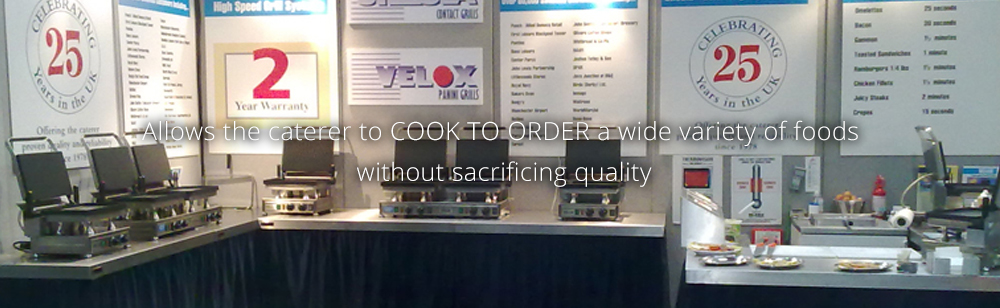 Allows the caterer to COOK TO ORDER a wide variety of foods without sacrificing quality